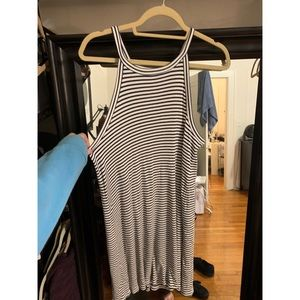 Stripped Ribbed Cotton Dress